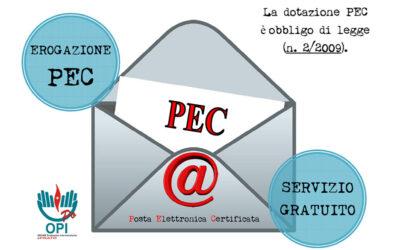 Servizio gratuito erogazione PEC