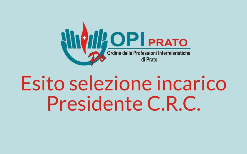 Esito selezione incarico Presidente C.R.C.